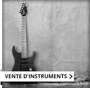 vente d'instruments