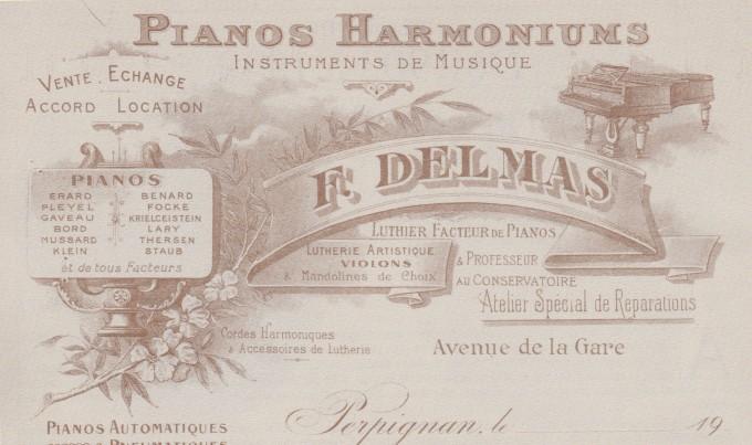 Delmas Musique Courrier-commercial-utilisé-par-la-maison-Delmas-de-1910-à-1925-680x403 La Maison Delmas s'agrandit Avenue de la Gare