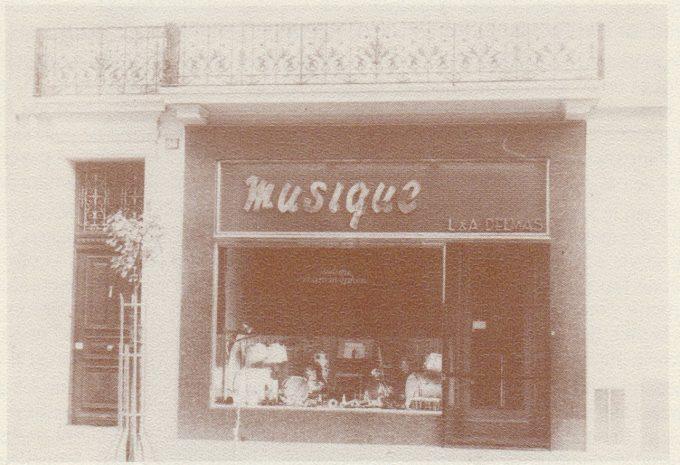 Le magasin Delmas Musique après rénovation en 1950