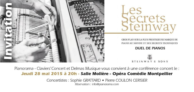 Delmas Musique ssons Duel de Pianos Steinway & Sons à l'opéra Comédie Montpellier le 28 Mai 2015