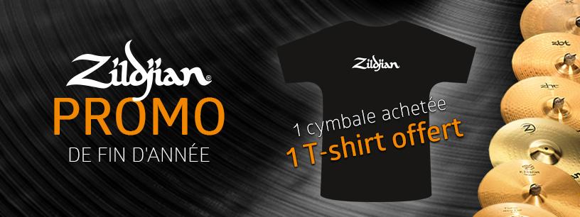 Delmas Musique PROMO-FIN-D-ANNEE-816-306 Promo de fin d'année : 1 t-shirt Zildjian offert pour toute cymbale Zildjian achetée