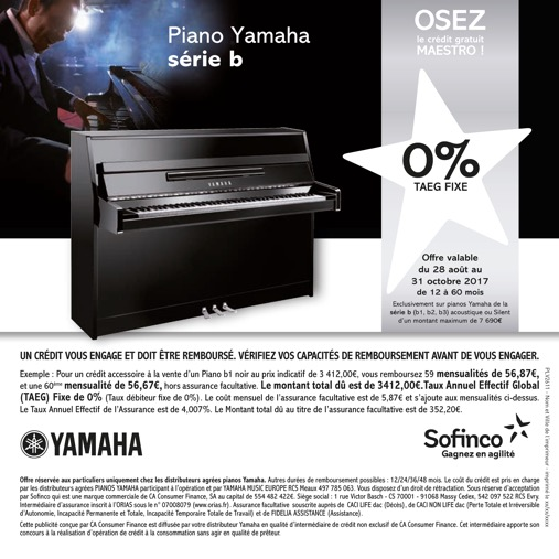 Delmas Musique Crédit-0-Piano-Yamaya-.-jpg Profitez d'un crédit gratuit Sofinco pour vos instruments Yamaha à la rentrée 2017