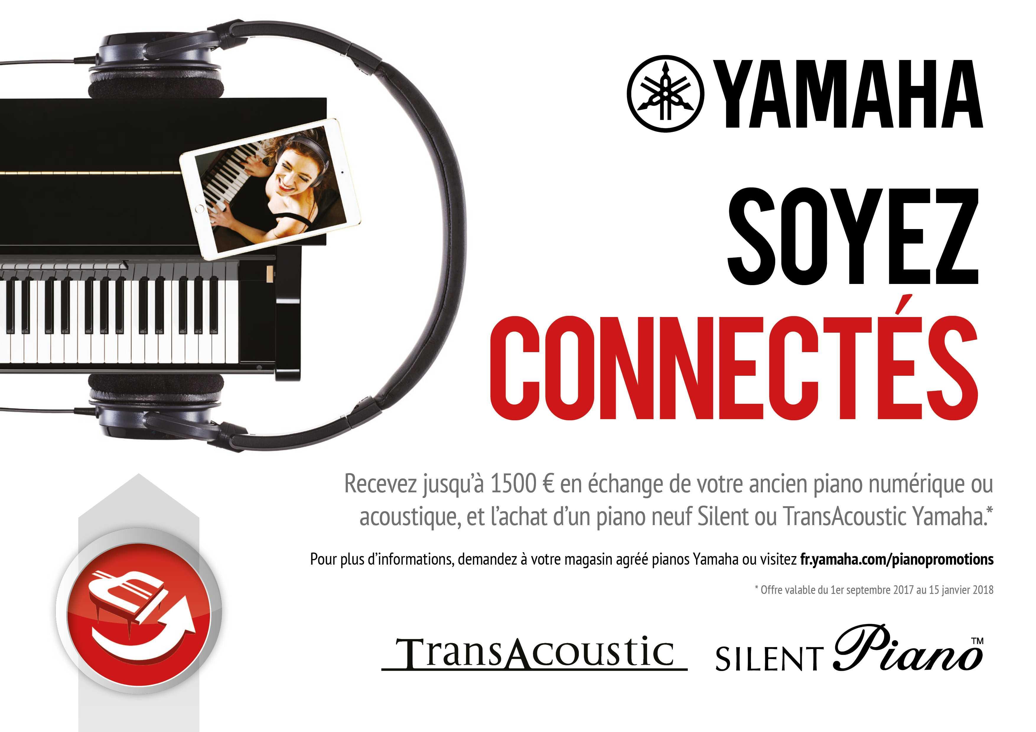prime au renouvellement avec les pianos silent et transacoustic de yamaha delmas musique. Black Bedroom Furniture Sets. Home Design Ideas