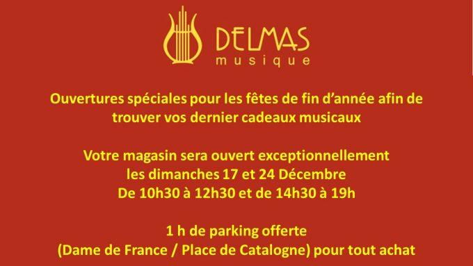 Delmas Musique Presentation1-680x383 Ouverture exceptionnelle des fêtes de fin d'année