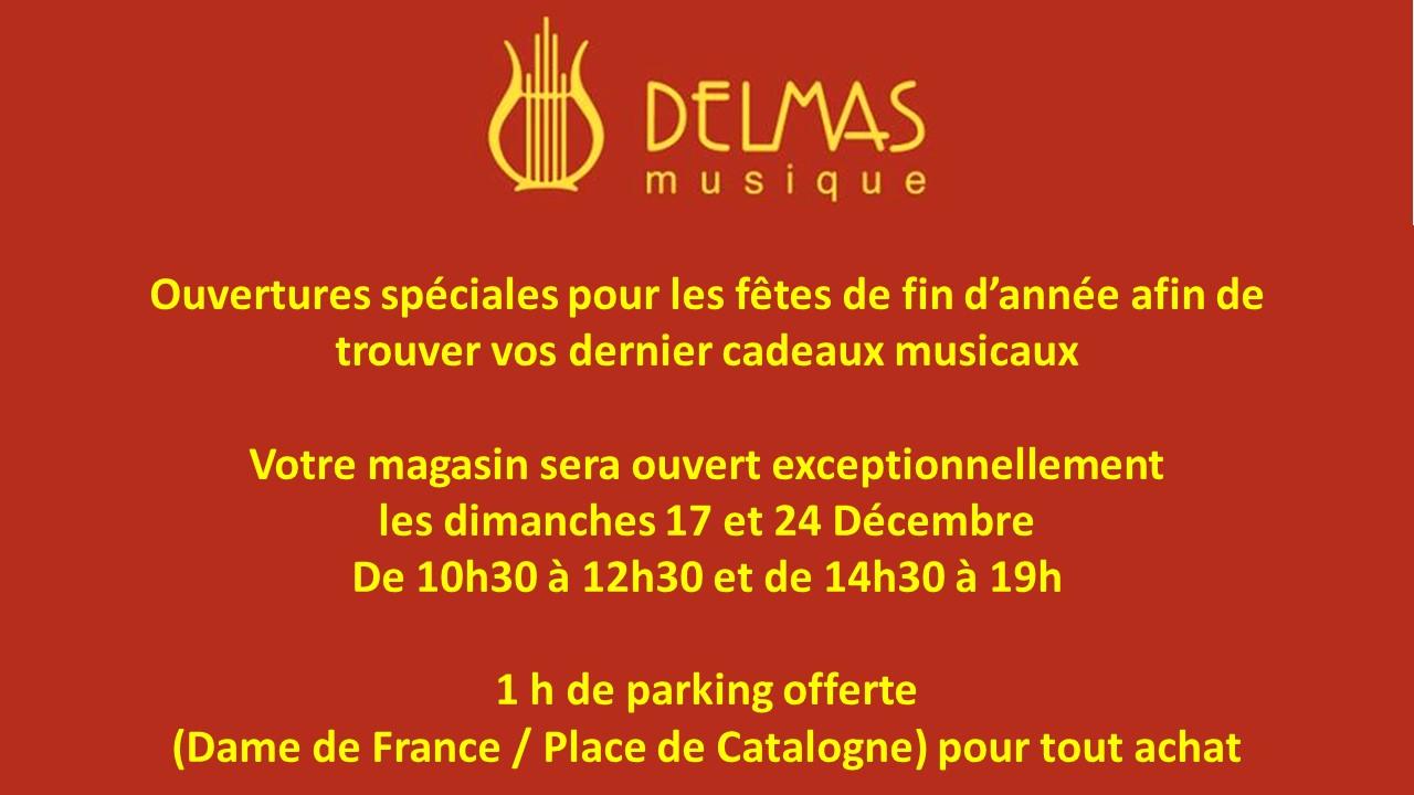 Delmas Musique Presentation1 Ouverture exceptionnelle des fêtes de fin d'année
