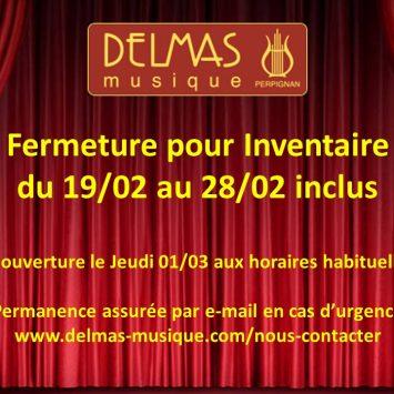 Fermeture pour Inventaire du 19/02 au 28/02