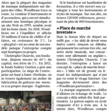 Le réseau Woodbrass partenaire officiel salué dans le Figaro