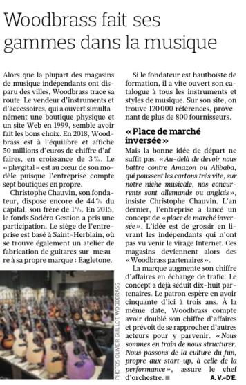 Delmas Musique Woodbrass- Le réseau Woodbrass partenaire officiel salué dans le Figaro