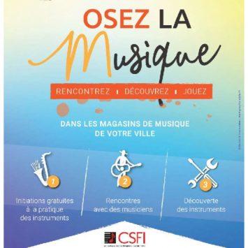 Osez la musique le 15 Juin 2019 à Perpignan chez Delmas Musique