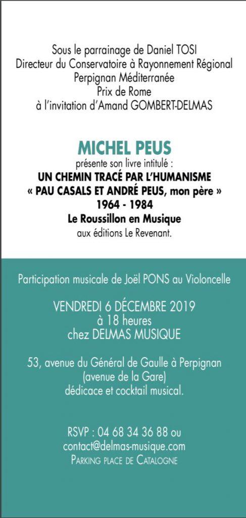 """Delmas Musique Capture2-487x1024 Présentation du Livre de M. Peus """"Un chemin tracé par l""""humanisme"""""""
