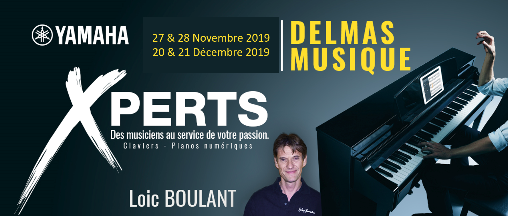 Delmas Musique Picture1 En cette fin d'année 2019 rencontrez notre Xpert YAMAHA en claviers et arrangeurs