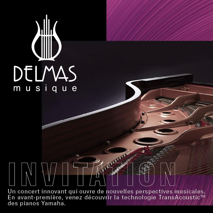 Delmas Musique Invitation_01 Soirée Yamaha TransAcoustic™ chez Delmas Musique le 6 Février 2020