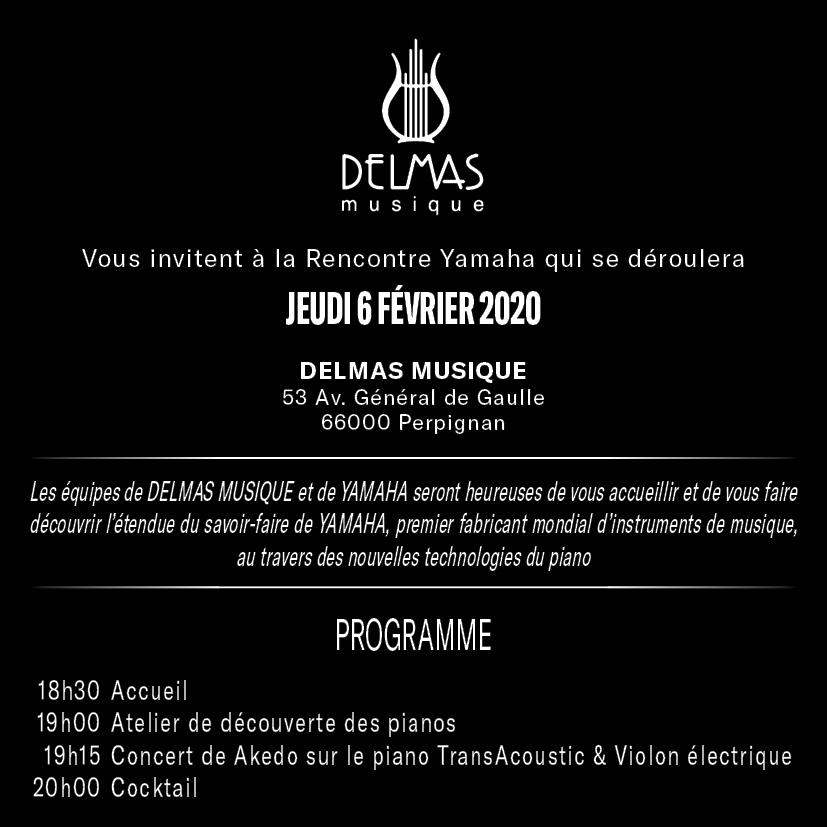 Delmas Musique Invitation_03 Soirée Yamaha TransAcoustic™ chez Delmas Musique le 6 Février 2020