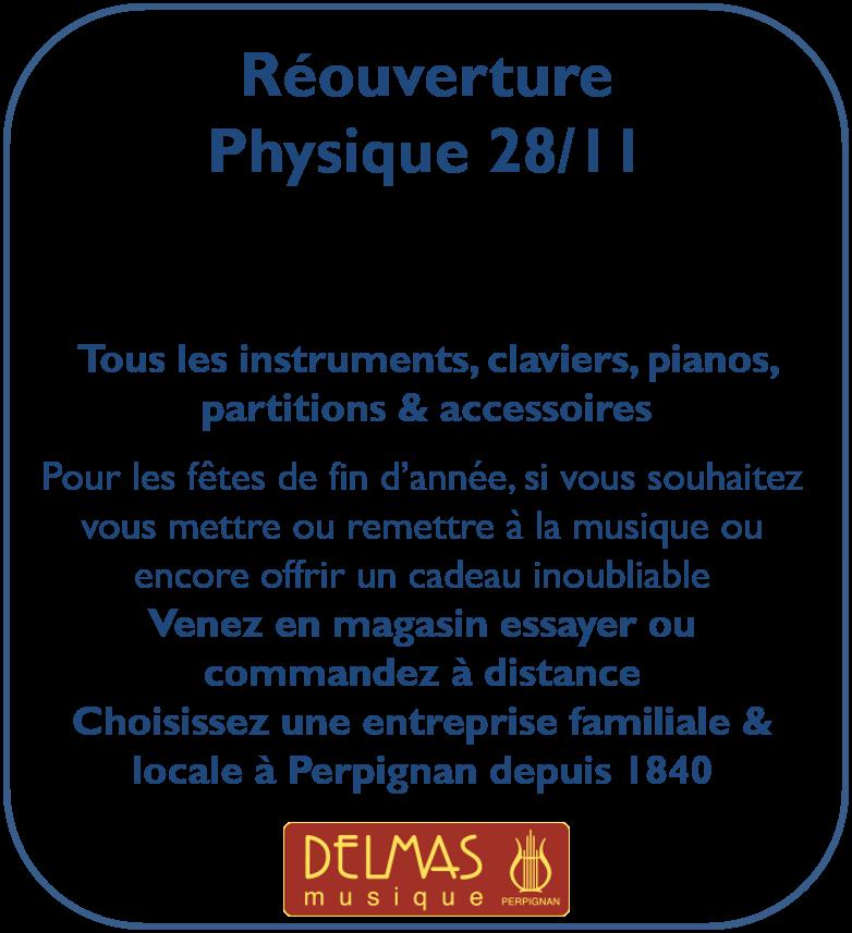 Delmas Musique Picture2 Réouverture du magasin le 28/11