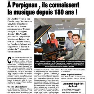 Magazine «Entreprendre» Avril 2021 : Le Plus ancien Magasin de musique de France