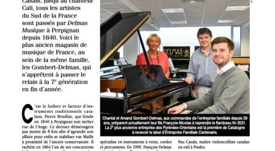 """Delmas Musique Capture-d'écran-2021-04-20-à-15.29.38-545x300 Magazine """"Entreprendre"""" Avril 2021 : Le Plus ancien Magasin de musique de France"""